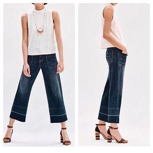 Anthro Pilcro High Rise Wide Leg Crop Jeans